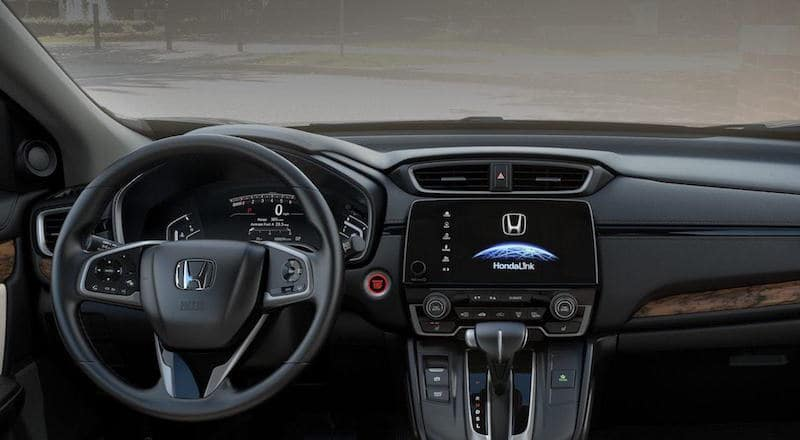 Honda CR-V dashboard and steering wheel