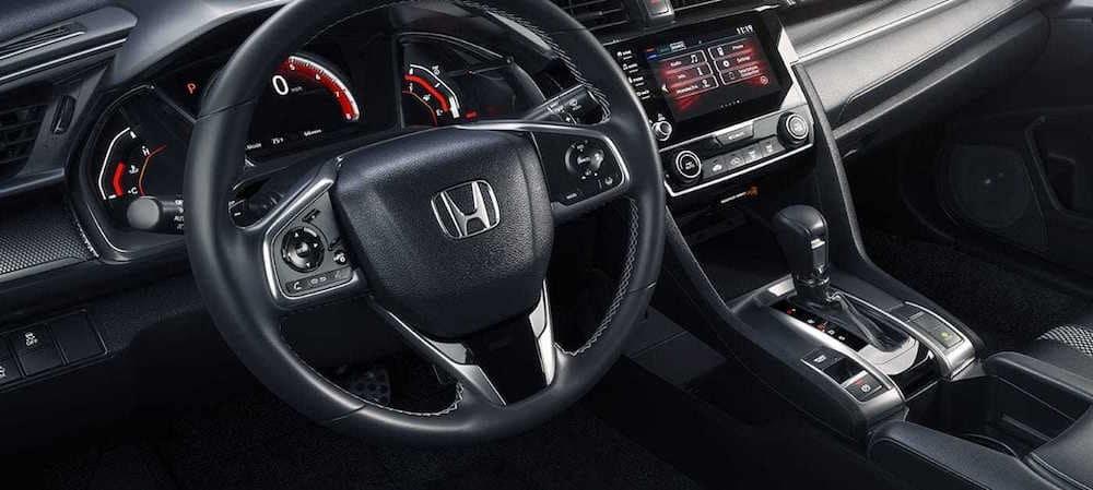 Honda Civic steering wheel and dashboard
