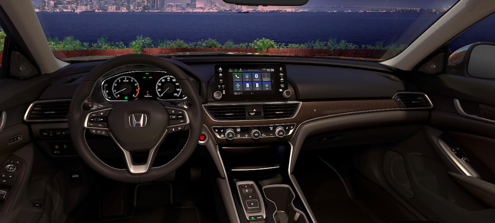 Interior and dashboard of an Accord