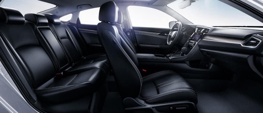 Side view of Honda Civic interior