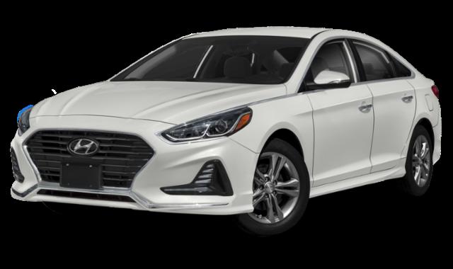 White Hyundai Sonata