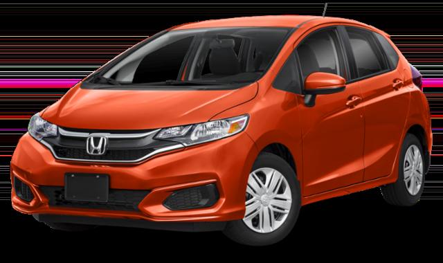 Orange Honda Fit