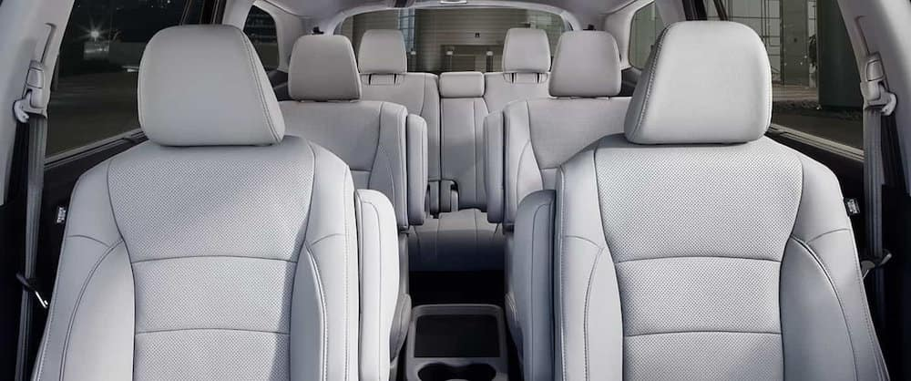 View of 7 seats in the Honda Pilot interior