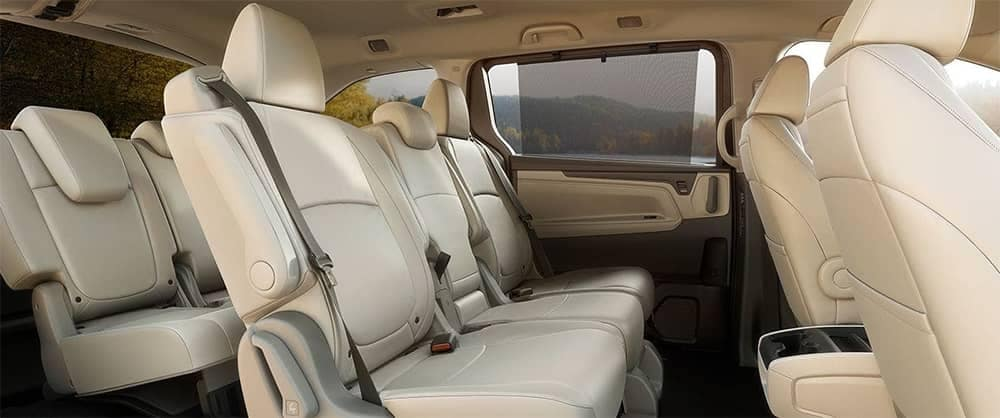 2019 Honda Odyssey Interior Rear Seating with window sunhades