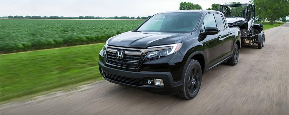 2019 Honda Ridgeline Towing a Trailer