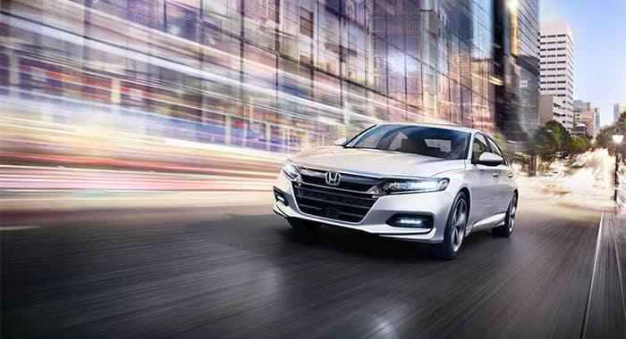 2019 Honda Accord Driving White