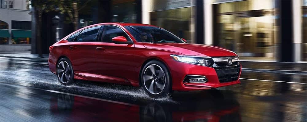 2019 Honda Accord Red Driving
