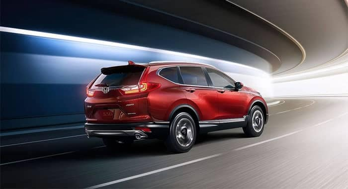 2019 Honda CR-V driving through curned tunnel