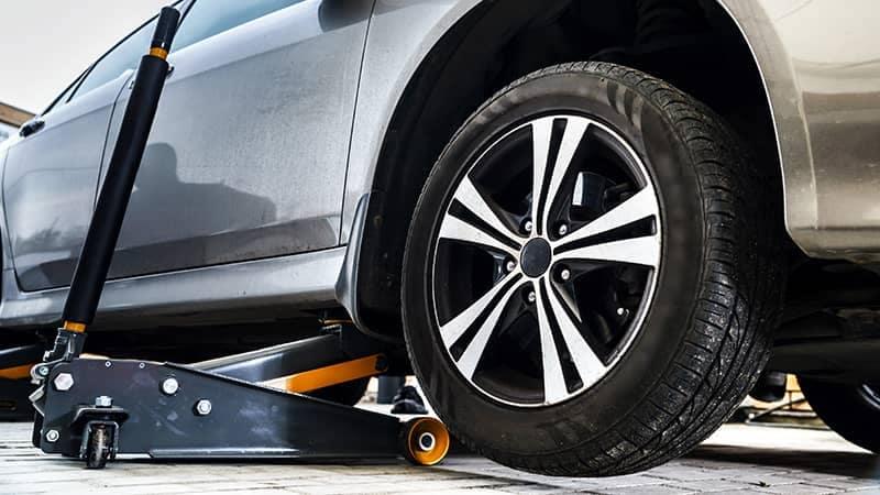 Servicing Car Tires