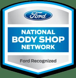 ford national body shop network logo