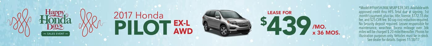 Lease 2017 Honda Pilot EX-L $439