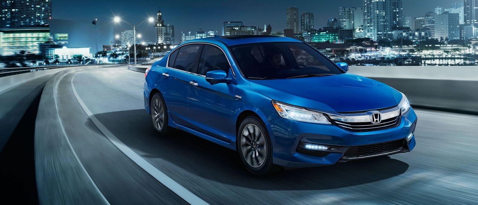 2017 Honda Accord Hybrid blue exterior