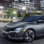 2017 Honda Civic Hatchback dark silver exterior