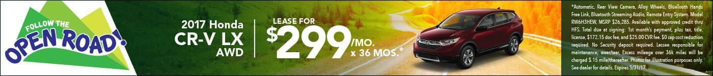 Lease 2017 CR-V $299/mo