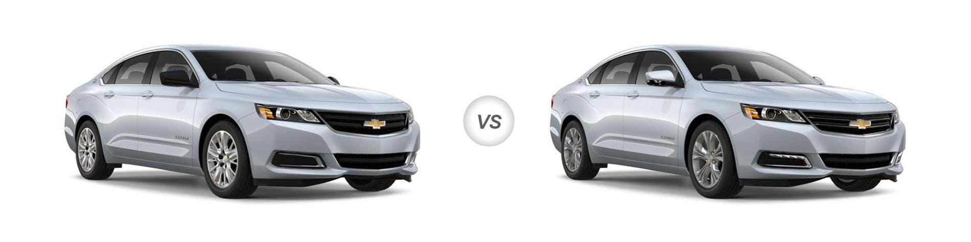 2018 chevrolet impala ls vs lt trim pare specs 2013 Chevy Impala
