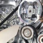 Serpentine belt in car engine