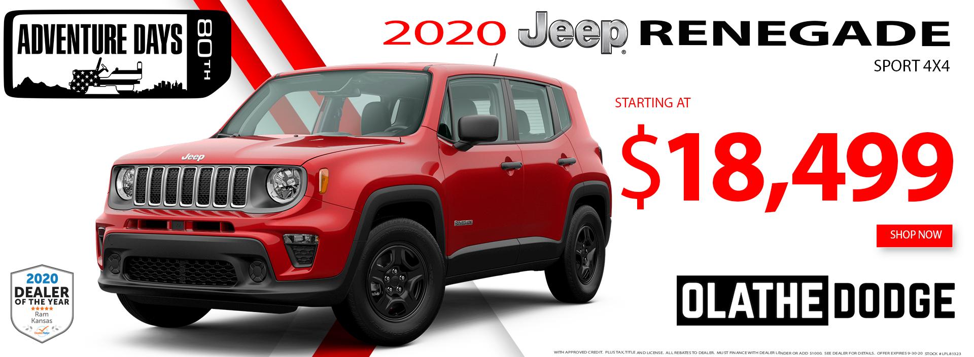 9.4.2020–Olathe Dodge–2020 Jeep Renegade 1920×705