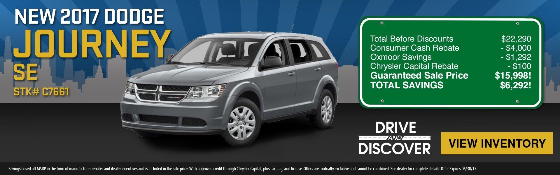 2017 Dodge Journey, save up to $6,292! See dealer for details