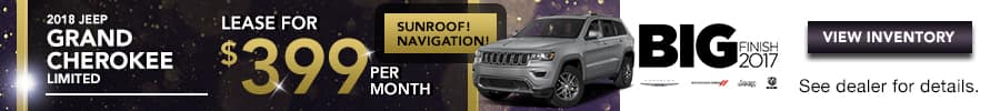 2018 Jeep Grand Cherokee, Lease for $399/month for 36 months