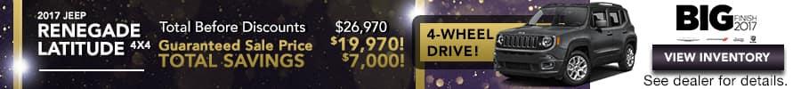 2017 Renegade, save up to $7,000
