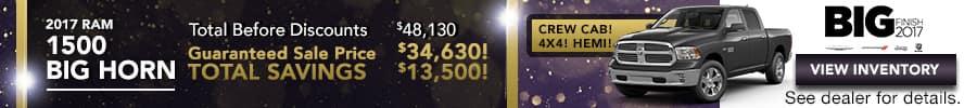 2017 RAM 1500 Big Horn, Save Up To $13,500