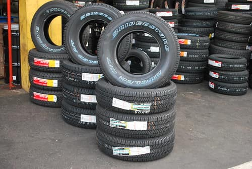 tires stacked up