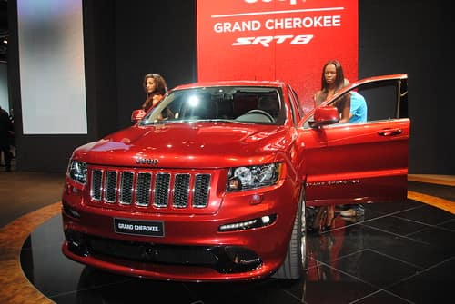 a red jeep grand cherokee