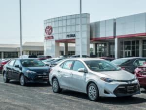 Recent arrival! Two new Corolla LE Sedans. Take a closer look.
