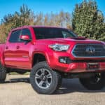"Come check out our awesome 2016 TRD Sport Tacoma that we outfitted with a brand new Rough Country 3"" Lift and 33"" Tires. Call 309-245-7000 for best pricing."