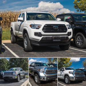 We have trucks for days! New and pre-owned Toyota's along with pre-owned brands such as GMC and Ford. Take a look at our entire new and pre-owned lineup right here: https://www.peoriatoyota.com/