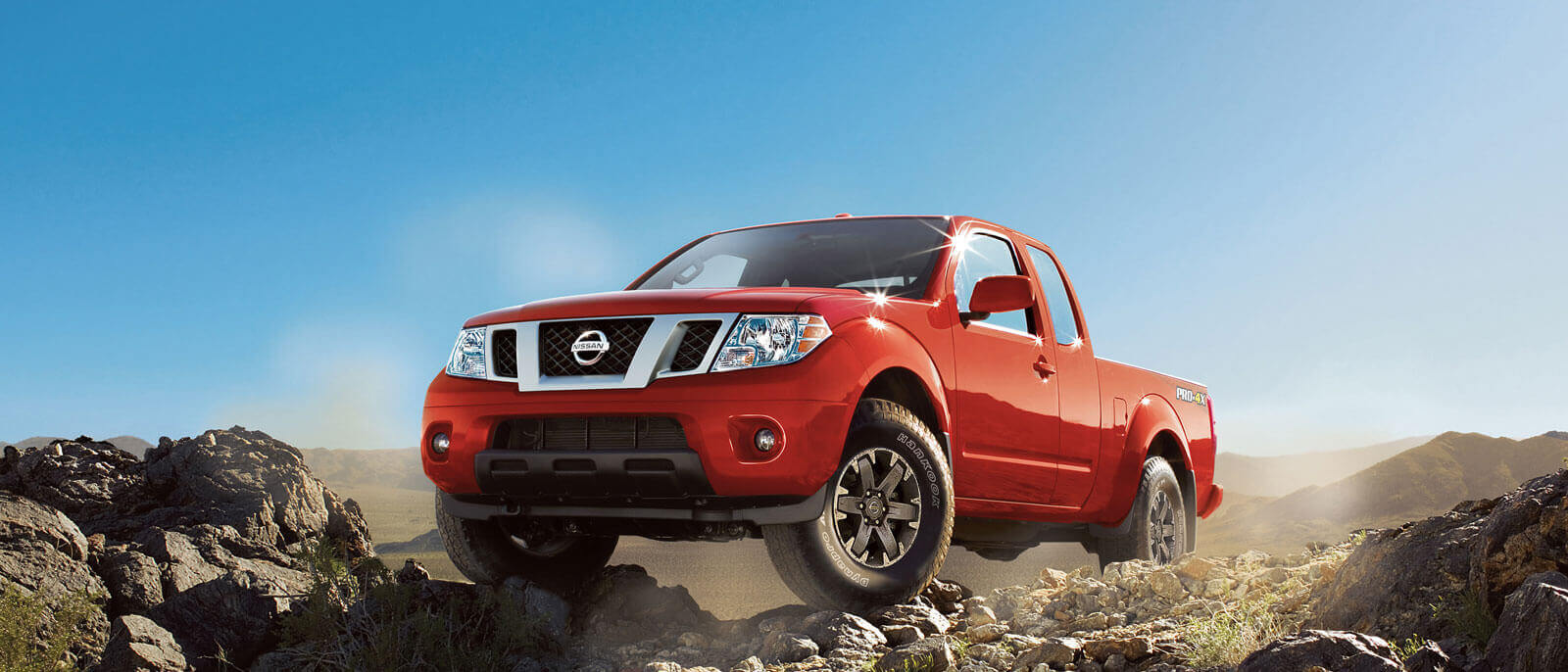 2016 Nissan Frontier on the mountain