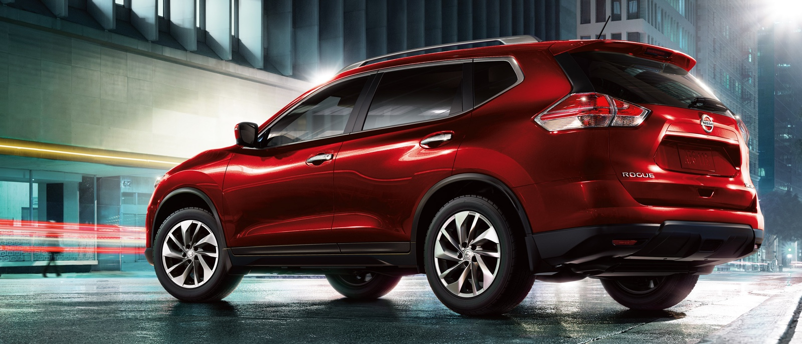 Red Nissan Rogue