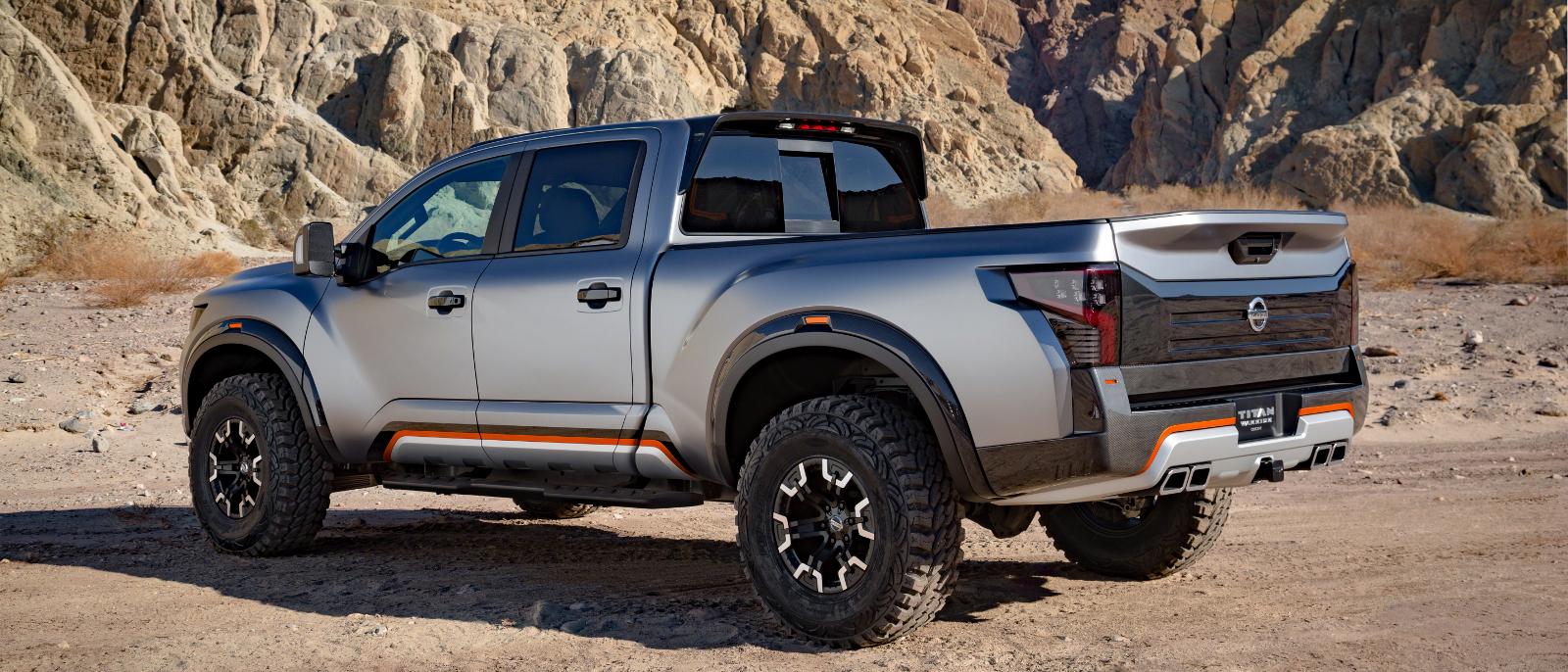 2016 Nissan Titan Warrior rear exterior