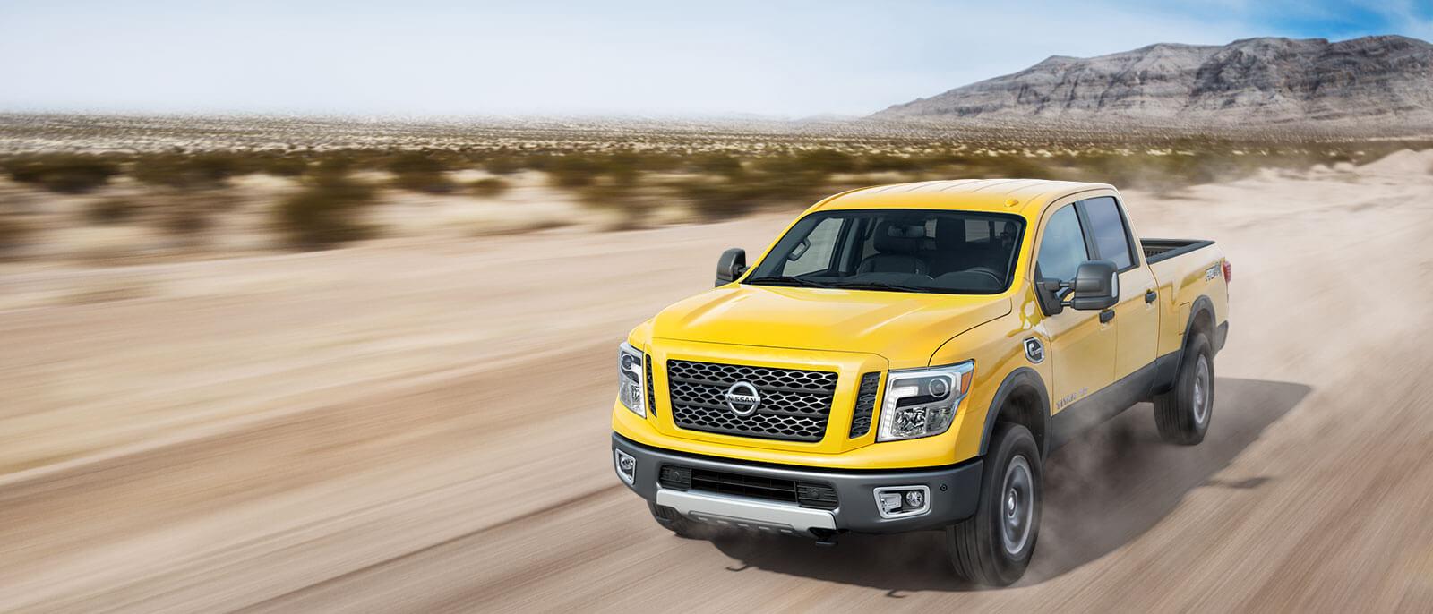 2017 Nissan Titan on the desert highway