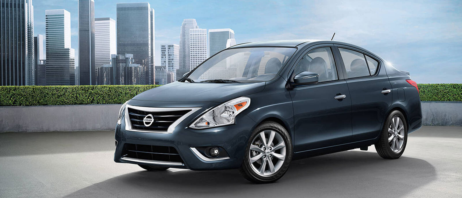 2017 Nissan Versa in the city