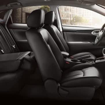 2018 Nissan Sentra folded seat