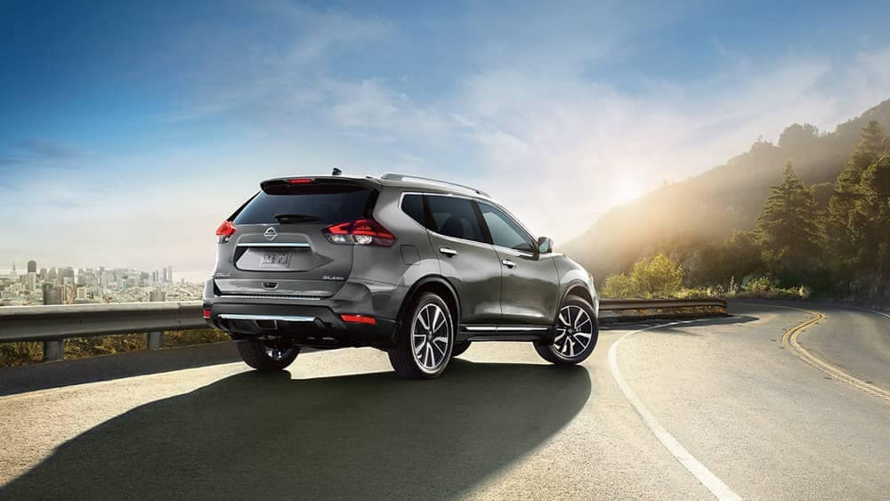 Gray 2018 Nissan Rogue Back View