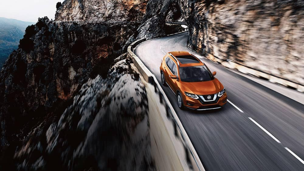 2018 Nissan Rogue on a mountain pass