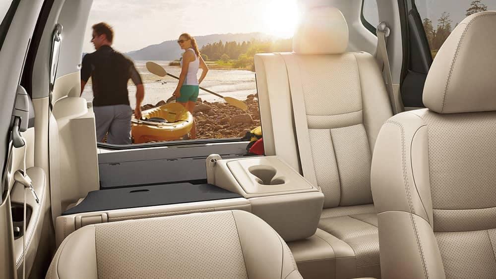 2018 Nissan Rogue fold down seats