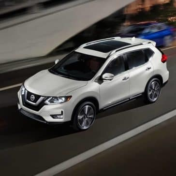 2018 Nissan Rogue aerial view