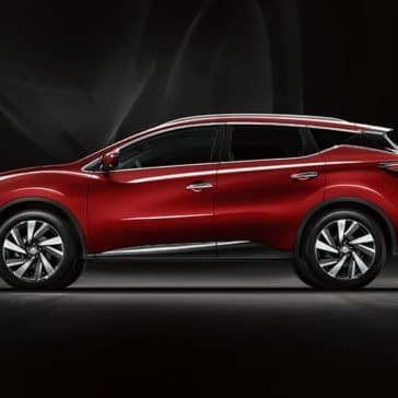 2018 Nissan Murano in red on the side