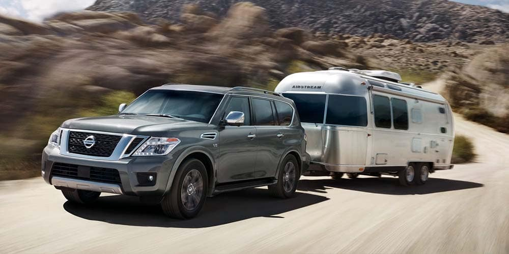 2018 Nissan Armada towing by a lake