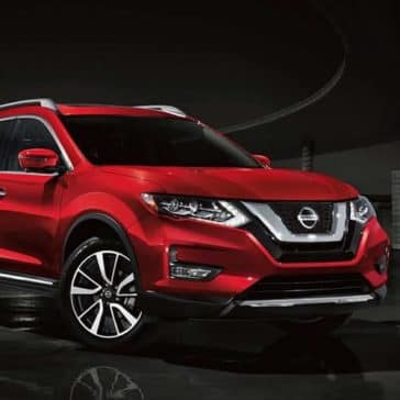 2019 Nissan Rogue on a night drive