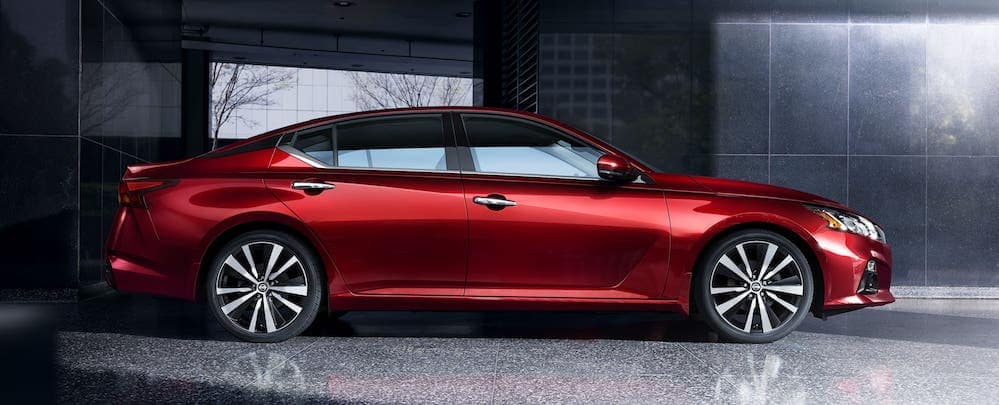 Exterior profile shot of a 2020 Nissan Altima
