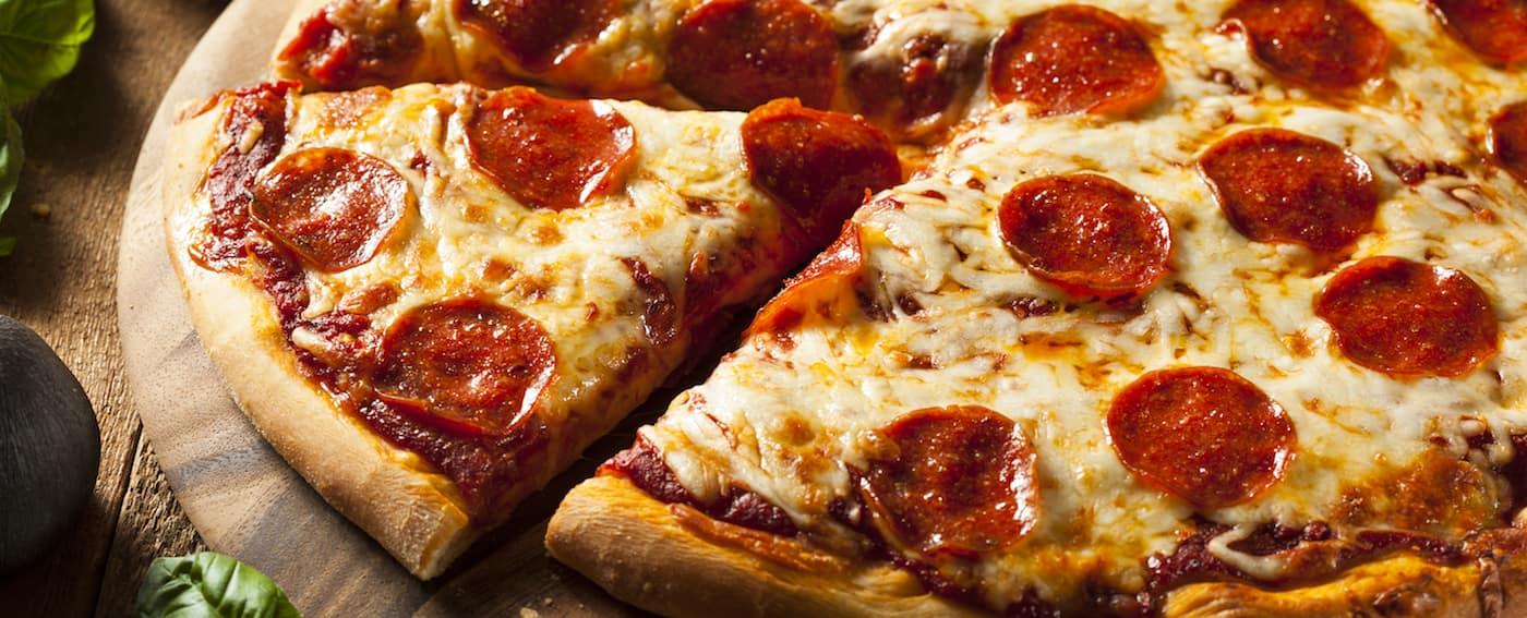 Fresh Baked Pepperoni Pizza