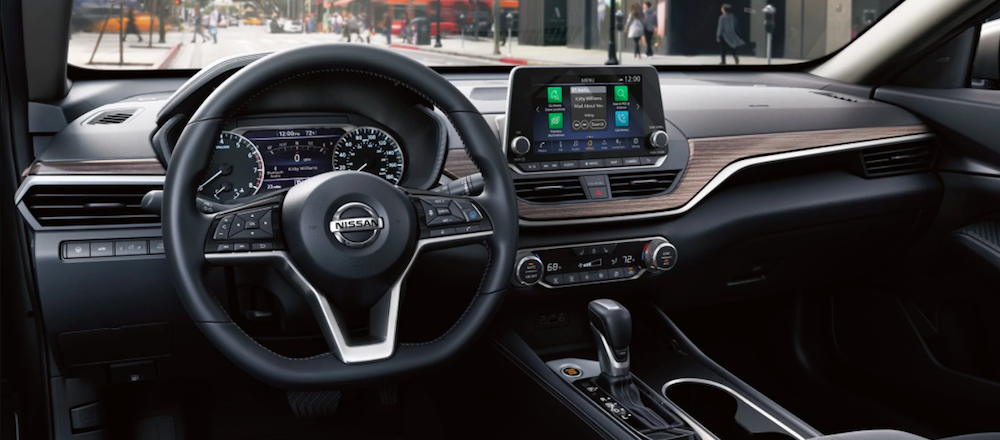 Front interior of a new 2020 Nissan Altima