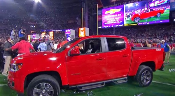 Tom Brady's new 2015 Chevrolet Colorado