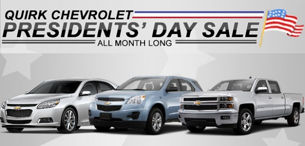 Quirk Chevrolet Presidents Day Sale