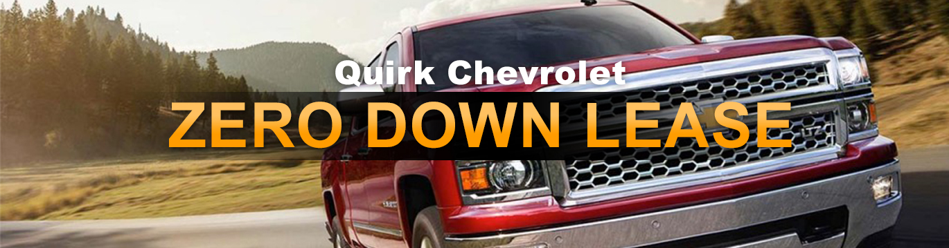 Chevrolet Zero Down Lease Offers | Quirk Chevrolet in Braintree MA