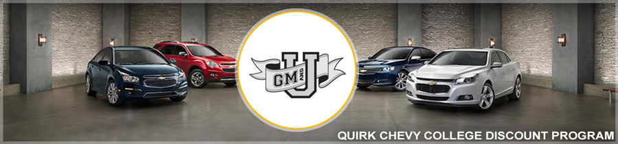 Chevy College Discount Program | Quirk Chevy